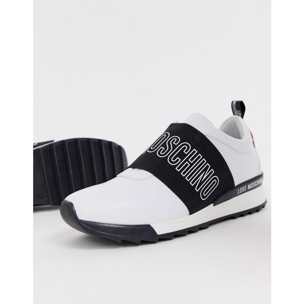 モスキーノ Love Moschino レディース スリッポン・フラット シューズ・靴【logo slip on trainer】White