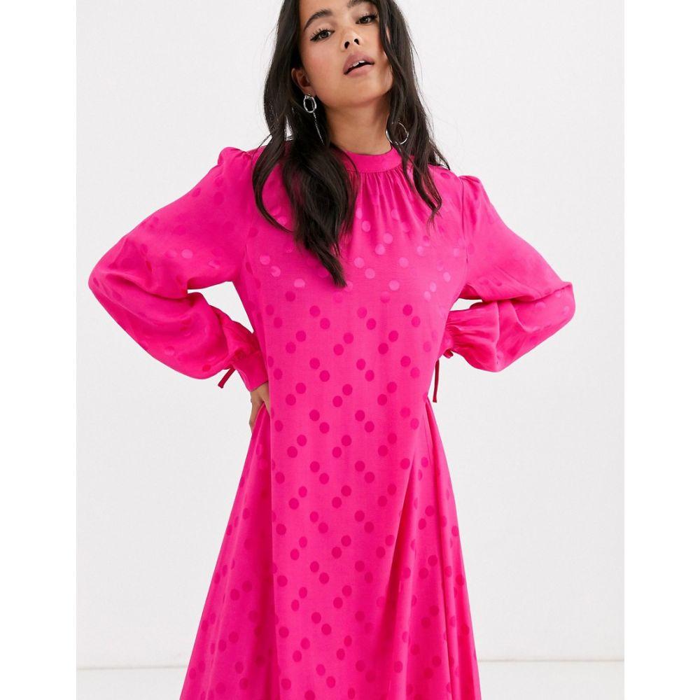 レズメ Resume レディース ワンピース ワンピース・ドレス【portia spot print midaxi dress】Cosmo pink