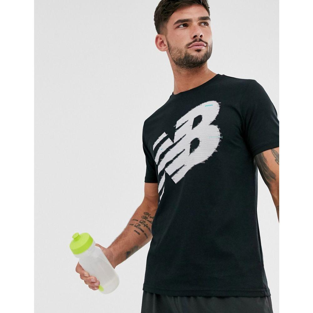 ニューバランス New Balance メンズ Tシャツ トップス【running graphic logo t-shirt in black】Black