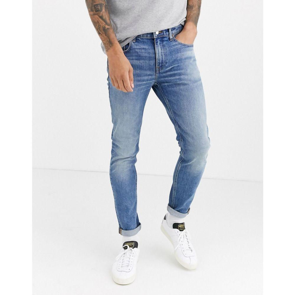 エイソス ASOS DESIGN メンズ ジーンズ・デニム ボトムス・パンツ【cone mill denim skinny 'american classic' jeans in vintage mid wash blue】Mid wash vintage