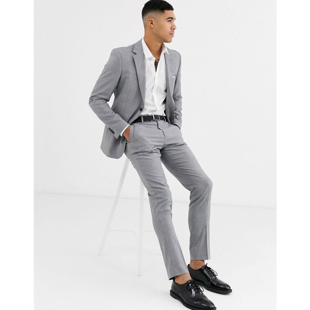 セリオ Celio メンズ スラックス ボトムス・パンツ【slim fit suit trouser in grey】Grey