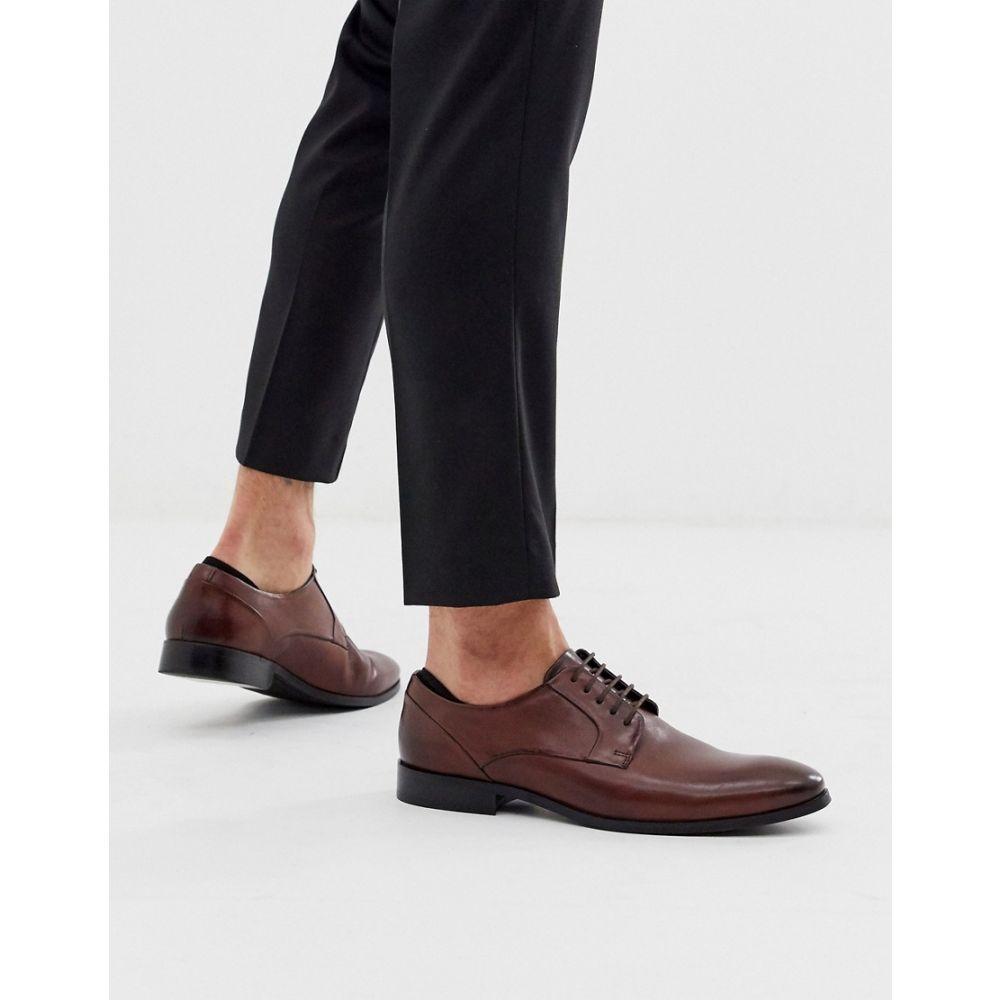 エイソス ASOS DESIGN メンズ シューズ・靴 レースアップ【lace up shoes in brown leather with natural sole】Brown