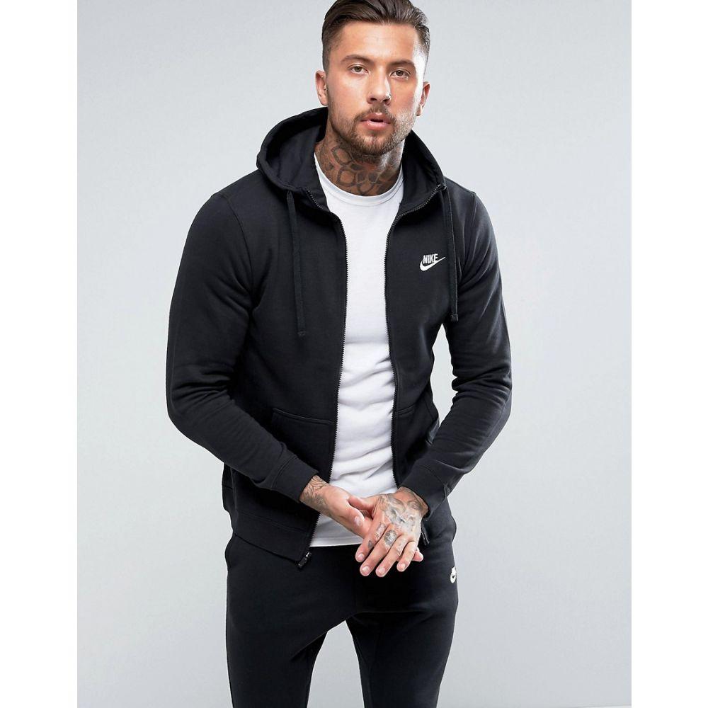 ナイキ Nike メンズ パーカー トップス【club zip-up hoodie in black bv2645-010】Black