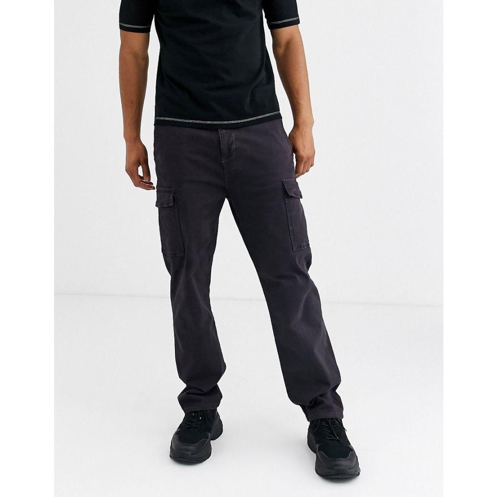 メンナス Mennace メンズ カーゴパンツ ボトムス・パンツ【cargo trousers in navy】Charcoal