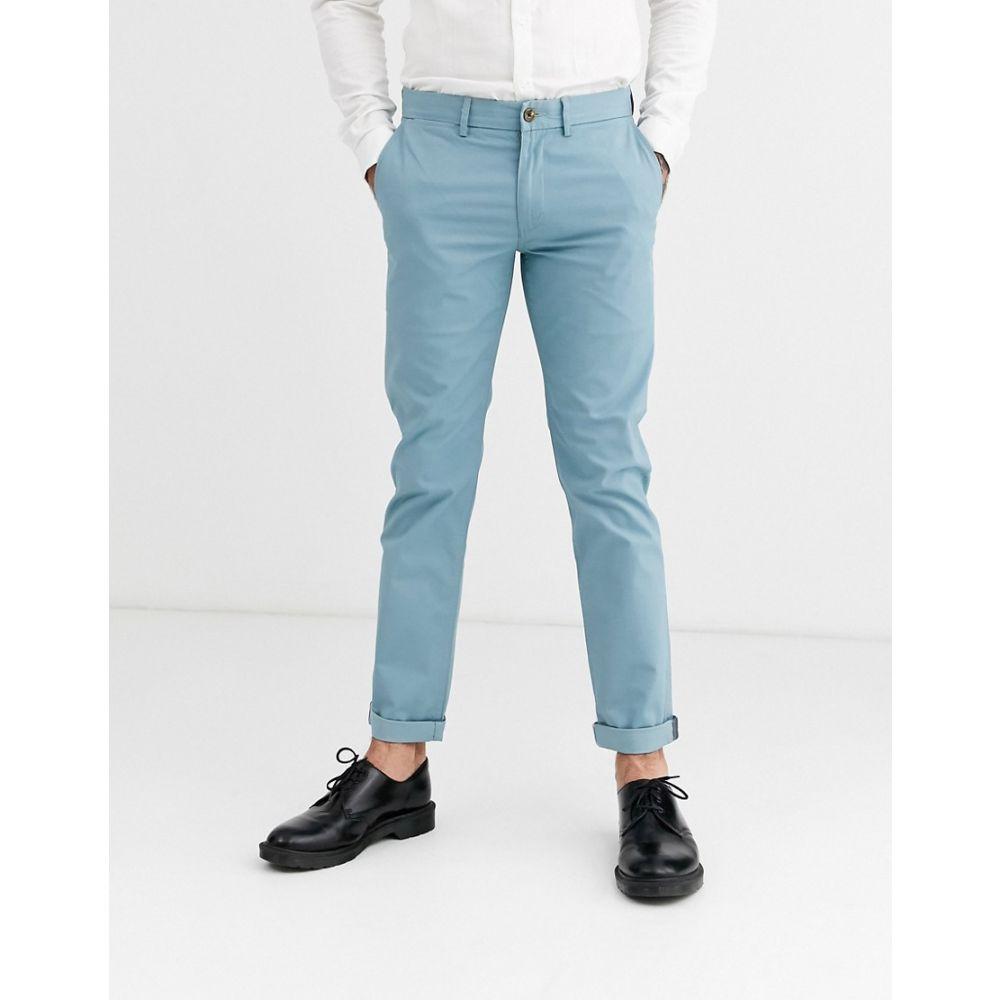 ベンシャーマン Ben Sherman メンズ チノパン チノパン ボトムス・パンツ【slim fit stretch chino trousers】Smoke blue