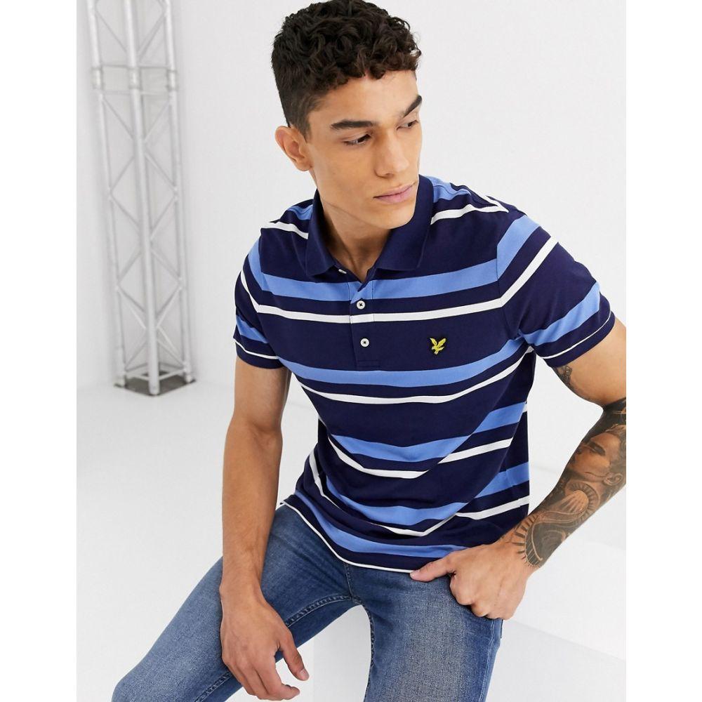 ライル アンド スコット Lyle & Scott メンズ ポロシャツ トップス【stripe polo shirt】Navy