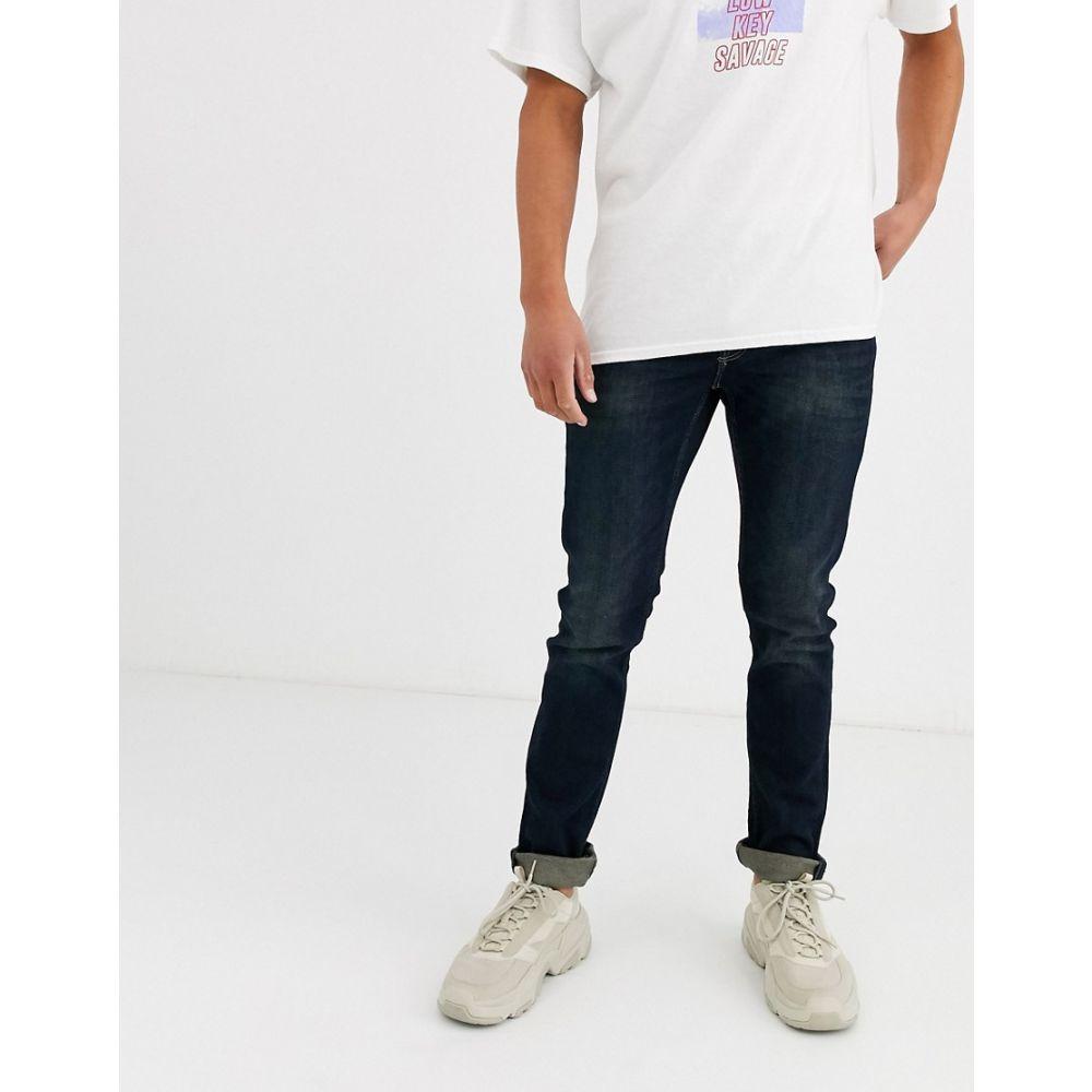 オンリーアンドサンズ Only & Sons メンズ ジーンズ・デニム ボトムス・パンツ【slim fit super stretch jeans in dark wash blue】Blue denim