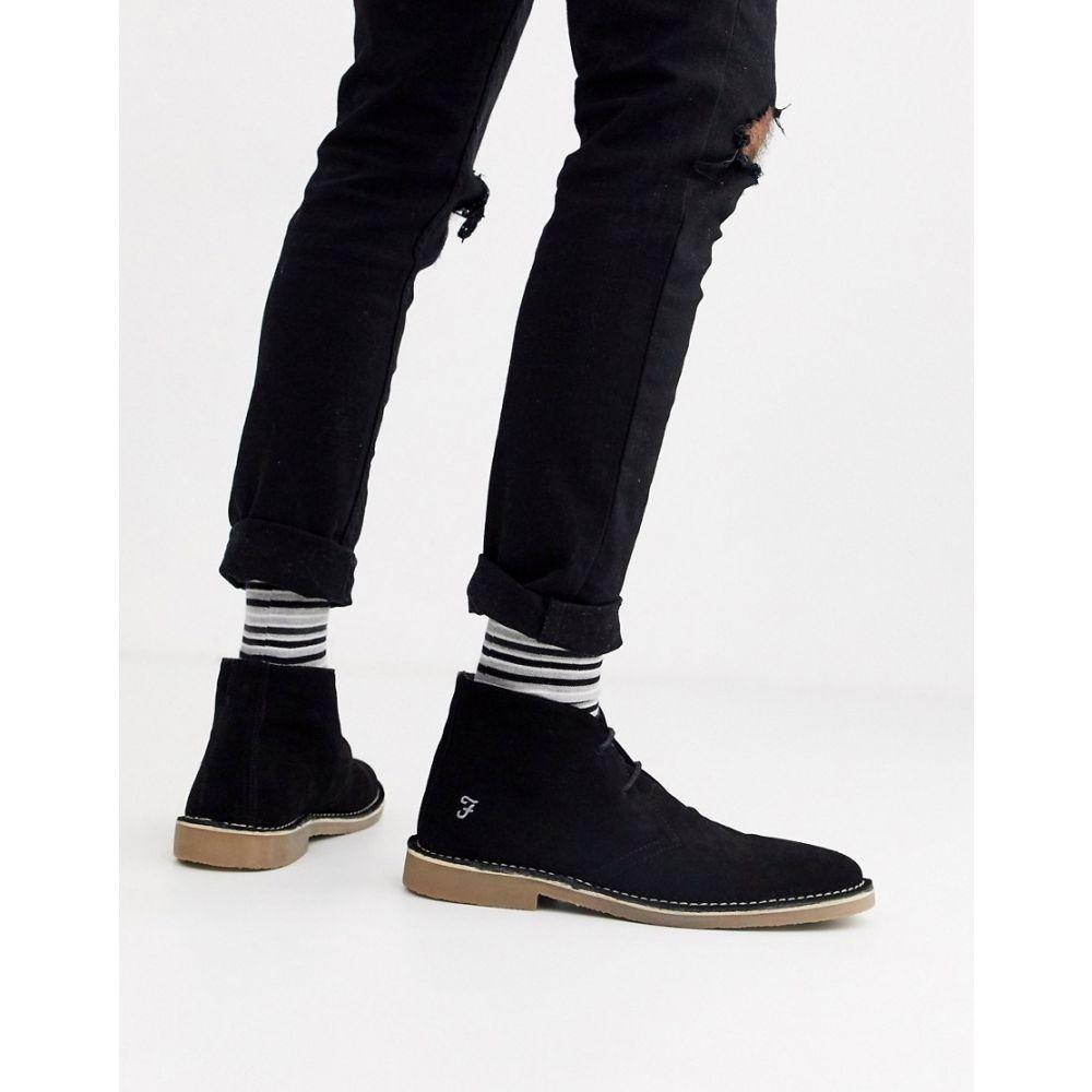 ファーラー Farah メンズ ブーツ シューズ・靴【suede desert boot in black】Black