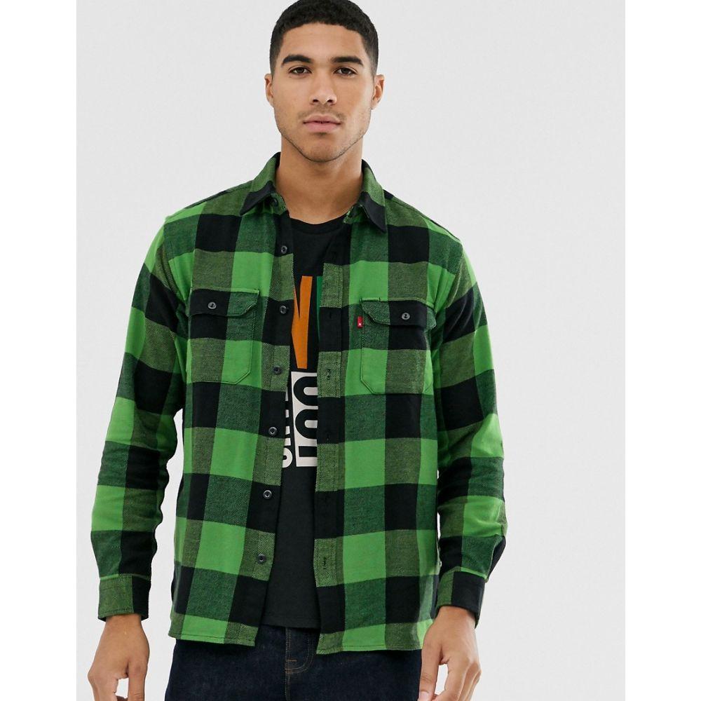 リーバイス Levi's メンズ シャツ フランネルシャツ トップス【jackson tab logo check flannel worker shirt in bandurria glen cove】Bandurria glen cove