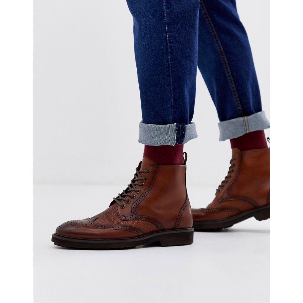 オフィス Office メンズ ブーツ メダリオン シューズ・靴【brogue boots in tan leather】Tan
