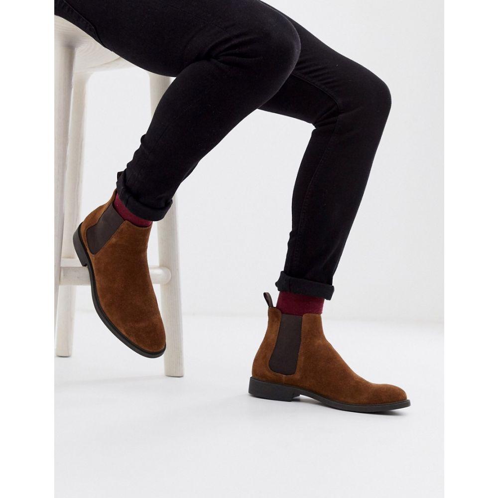 オフィス Office メンズ ブーツ チェルシーブーツ シューズ・靴【mannage chelsea boots in brown suede】Brown
