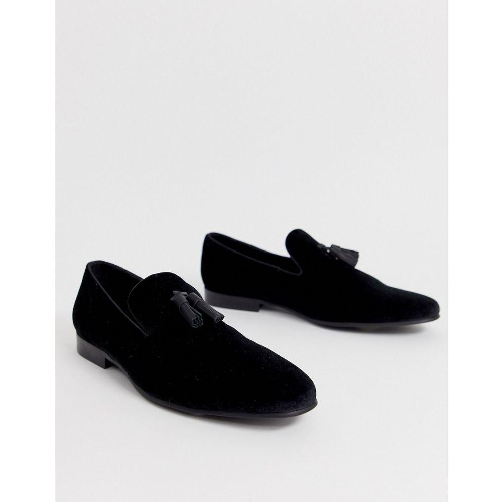 オフィス Office メンズ ローファー シューズ・靴【imperial velvet slipper loafers in black】Black