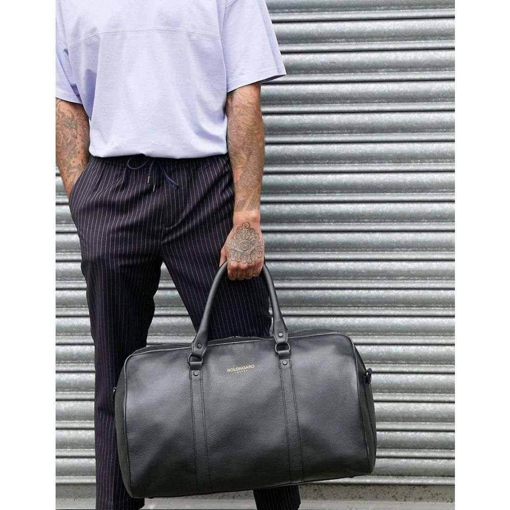 ボロンガロトレバー Bolongaro Trevor メンズ ボストンバッグ・ダッフルバッグ バッグ【grain leather holdall】Black
