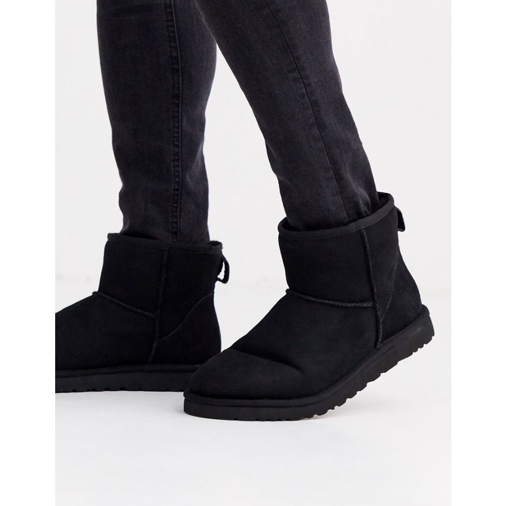 アグ UGG メンズ ブーツ シューズ・靴【classic mini boots in black suede】Black