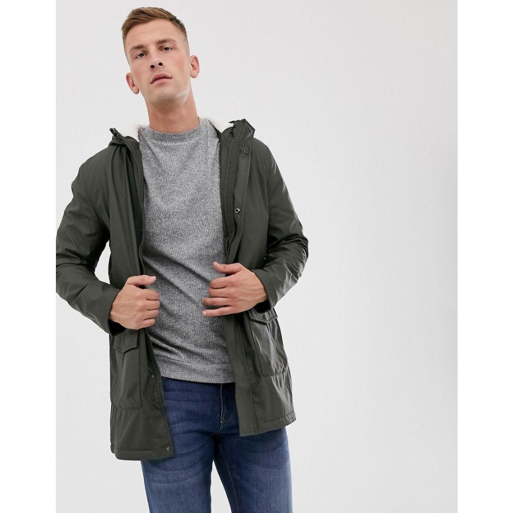 フレンチコネクション French Connection メンズ コート アウター【coated hooded borg lined parka】Green
