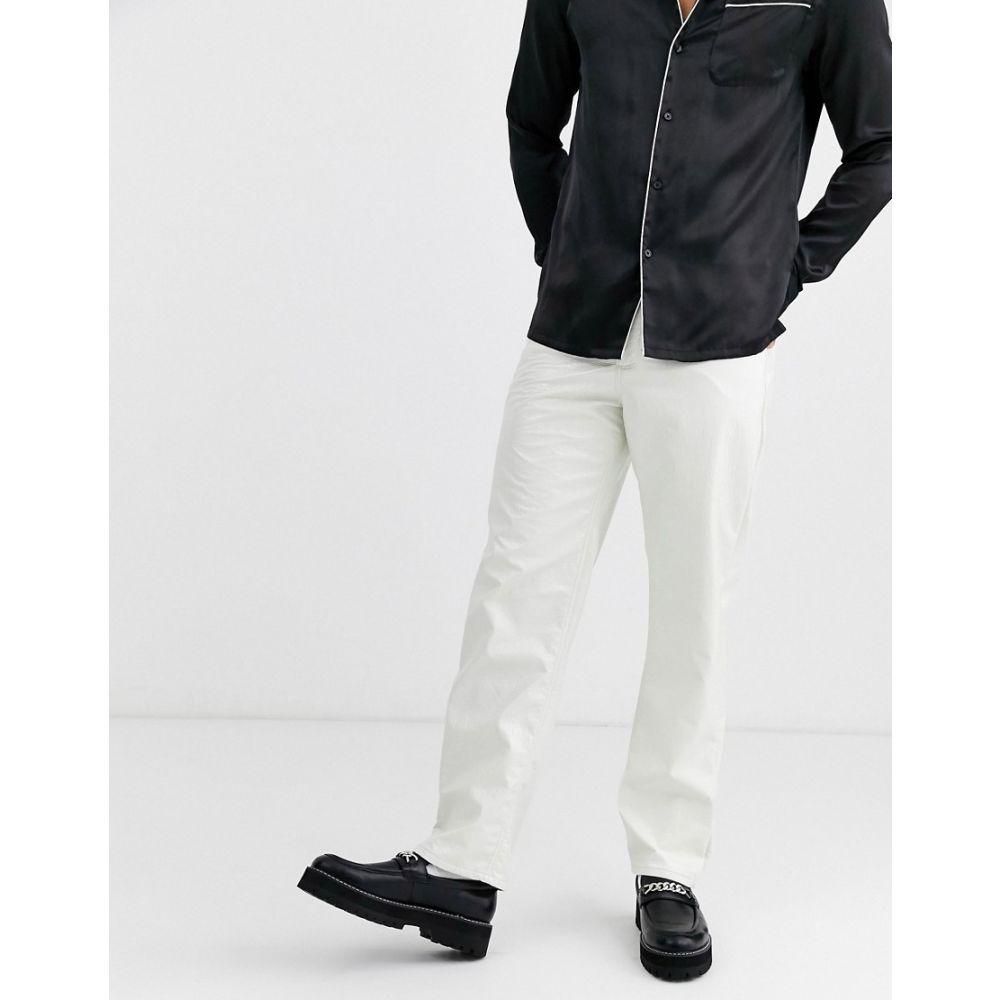 エイソス ASOS DESIGN メンズ ジーンズ・デニム ボトムス・パンツ【straight jeans in white vinyl】White