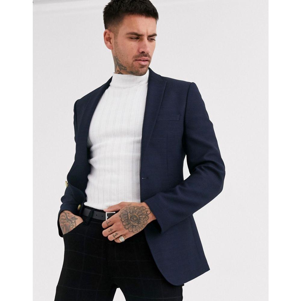 エイソス ASOS DESIGN メンズ スーツ・ジャケット アウター【super skinny blazer in navy twill】Navy