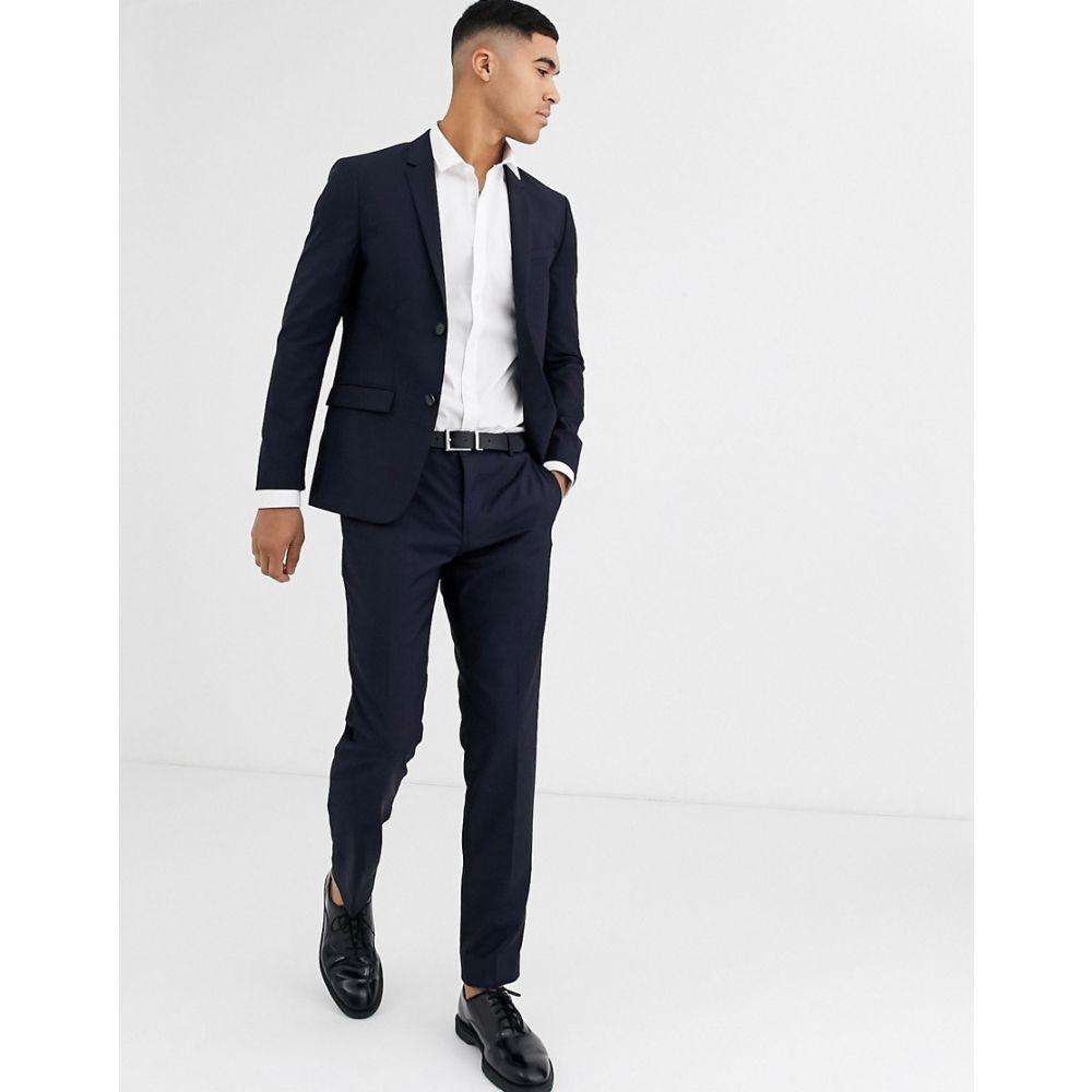 カルバンクライン Calvin Klein メンズ スラックス ボトムス・パンツ【refined wool navy suit trouser】Navy