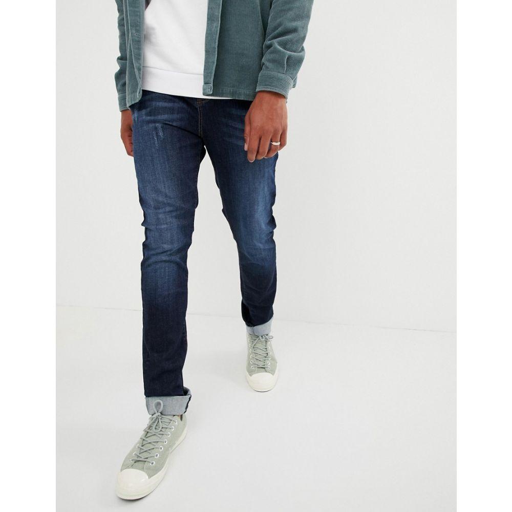 ブルックリン サプライ Brooklyn Supply Co. メンズ ジーンズ・デニム ボトムス・パンツ【brooklyn supply co skater fit jeans in washed indigo】Washed blue