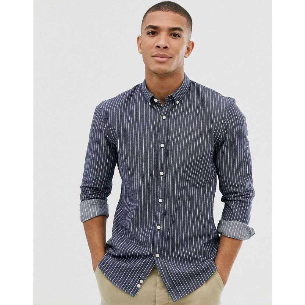 トムテイラー Tom Tailor メンズ シャツ トップス【stripe shirt with button down collar in blue】Blue