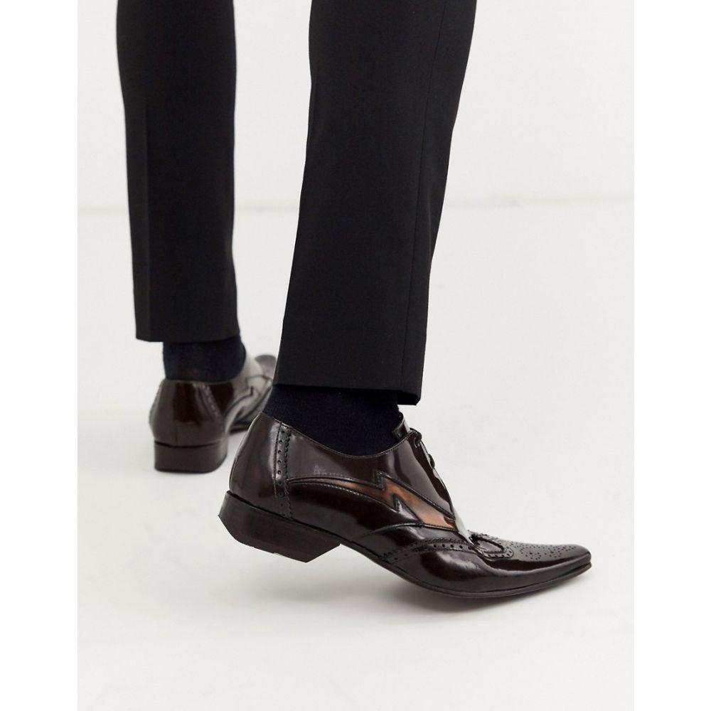 ジェフリー ウエスト Jeffery West メンズ 革靴・ビジネスシューズ シューズ・靴【pino contrast lightning shoe in brown high shine leather】Brown