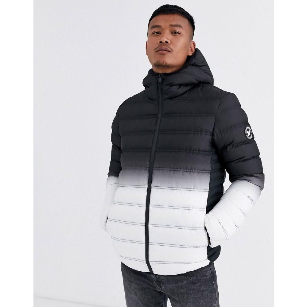 グッドフォーナッシング Good For Nothing メンズ ダウン・中綿ジャケット アウター【hooded puffer jacket in gradient black】Black