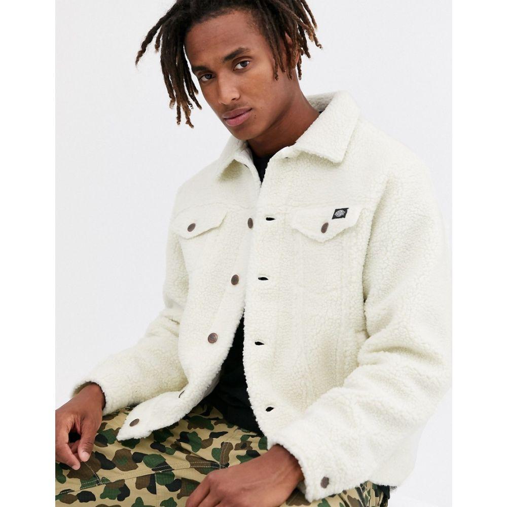 ディッキーズ Dickies メンズ ジャケット アウター【cawood sherpa trucket jacket in white】White