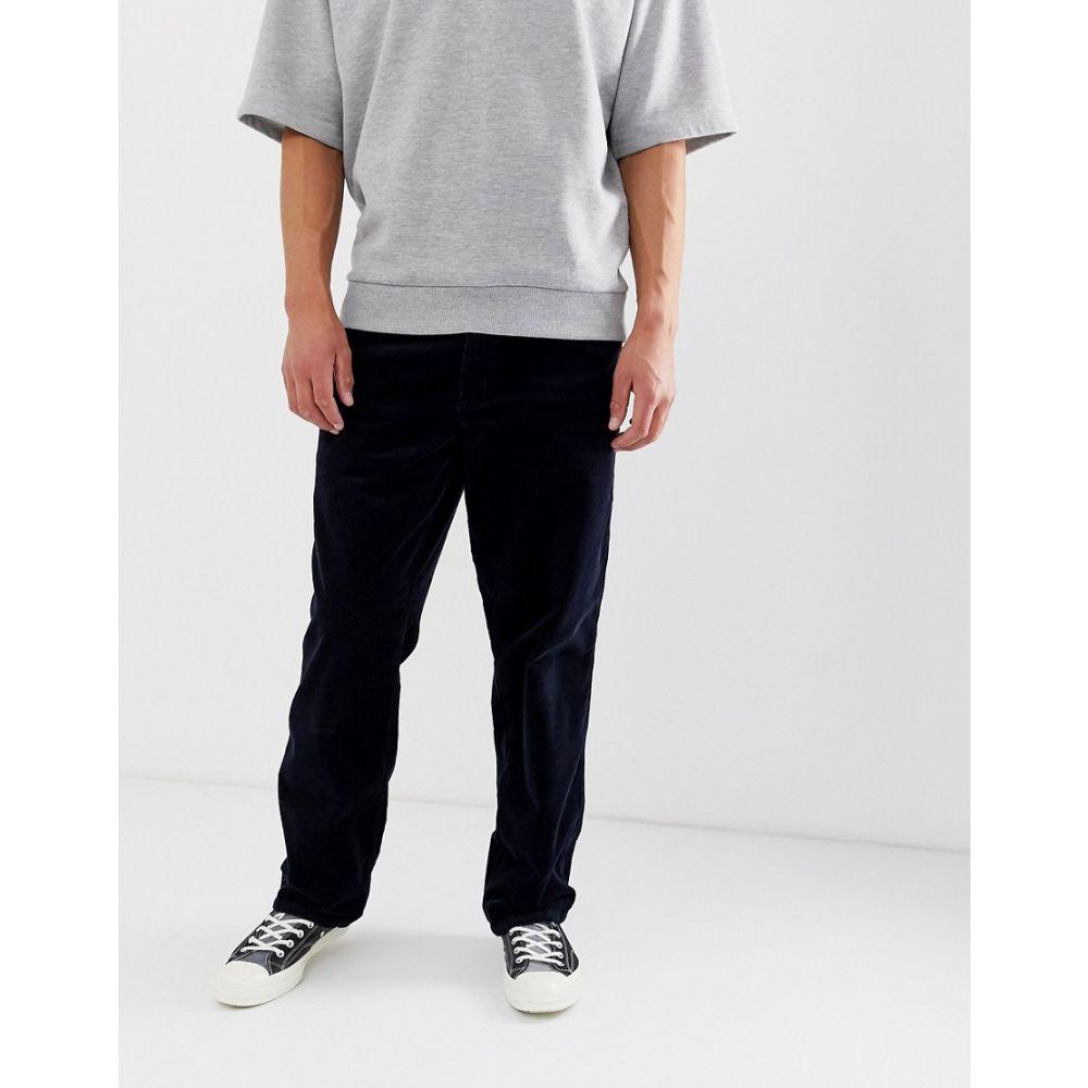 カーハート Carhartt WIP メンズ ボトムス・パンツ ストレートパンツ【simple corduroy pant relaxed straight fit in navy】Navy