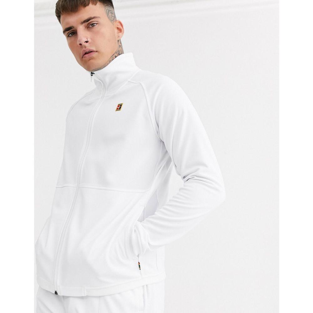 ナイキ Nike メンズ ジャージ アウター【court essential track jacket in white】White