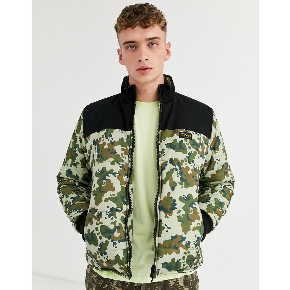 モッシモ Mossimo メンズ ダウン・中綿ジャケット アウター【classic funnel puffer jacket in camo】Green