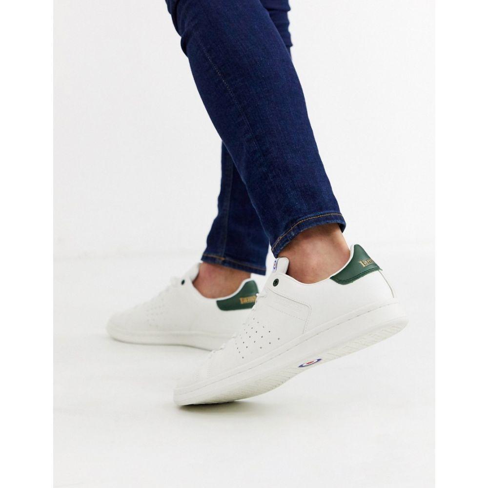 ランブレッタ Lambretta メンズ テニス シューズ・靴【tennis trainers in white and green】White