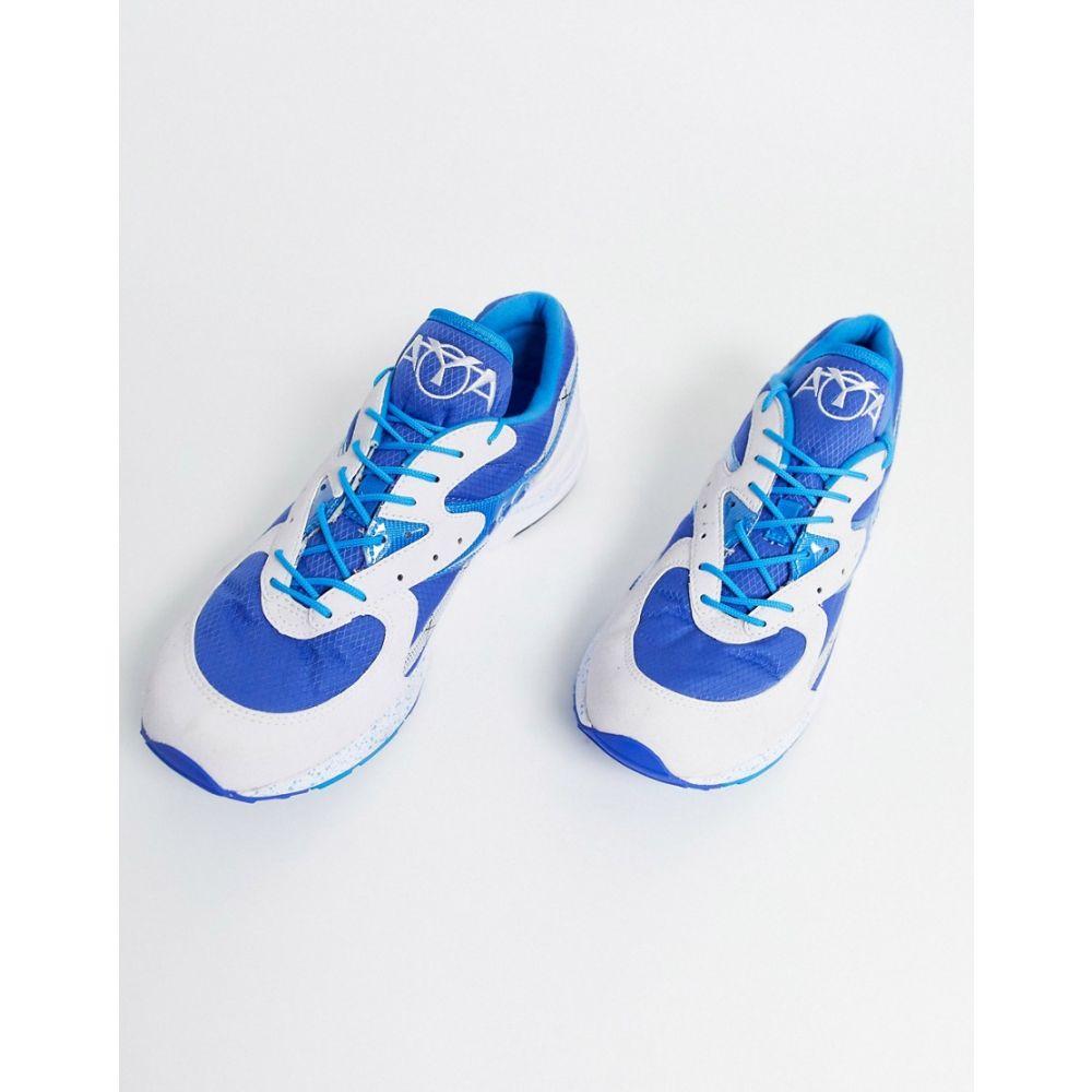 サッカニー Saucony メンズ スニーカー シューズ・靴【aya og trainers in blue】Blue