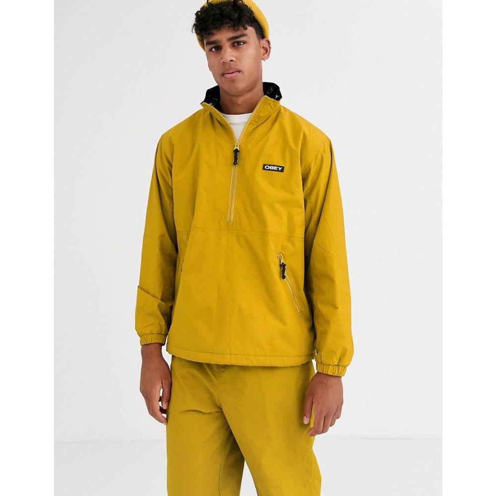 オベイ Obey メンズ ジャケット アウター【attitude overhead jacket in yellow】Golden palm yellow