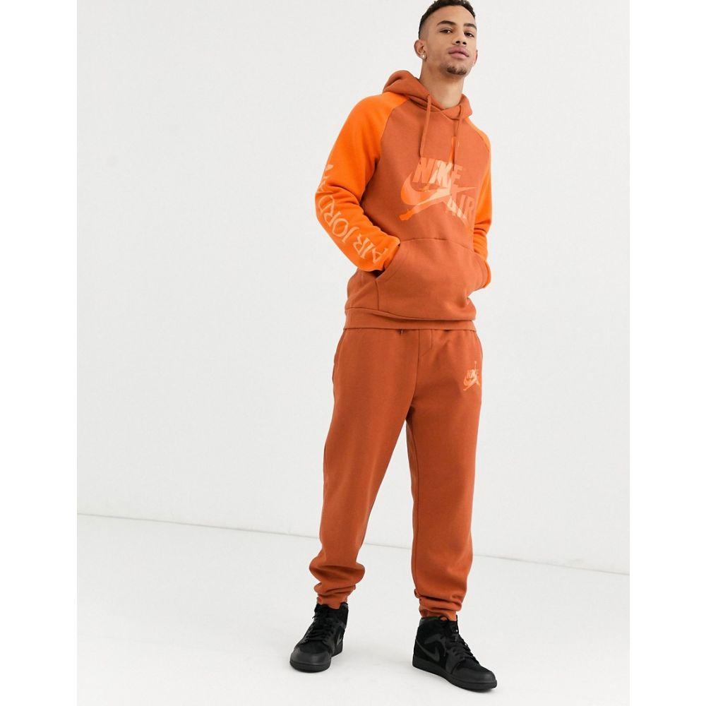 ナイキ ジョーダン Jordan メンズ ジョガーパンツ ジャンプマン ボトムス・パンツ【nike jumpman joggers in orange】Orange