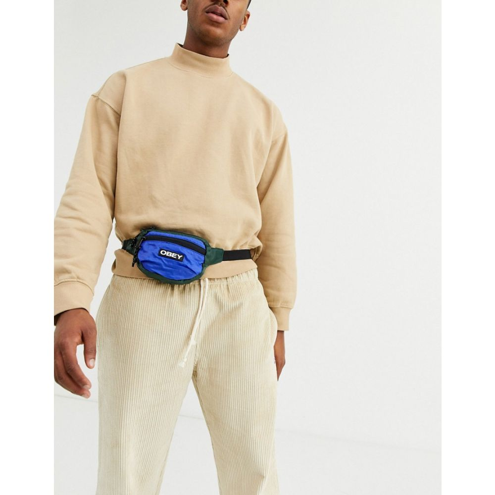 オベイ Obey メンズ ボディバッグ・ウエストポーチ バッグ【commuter waist pouch in blue】Blue