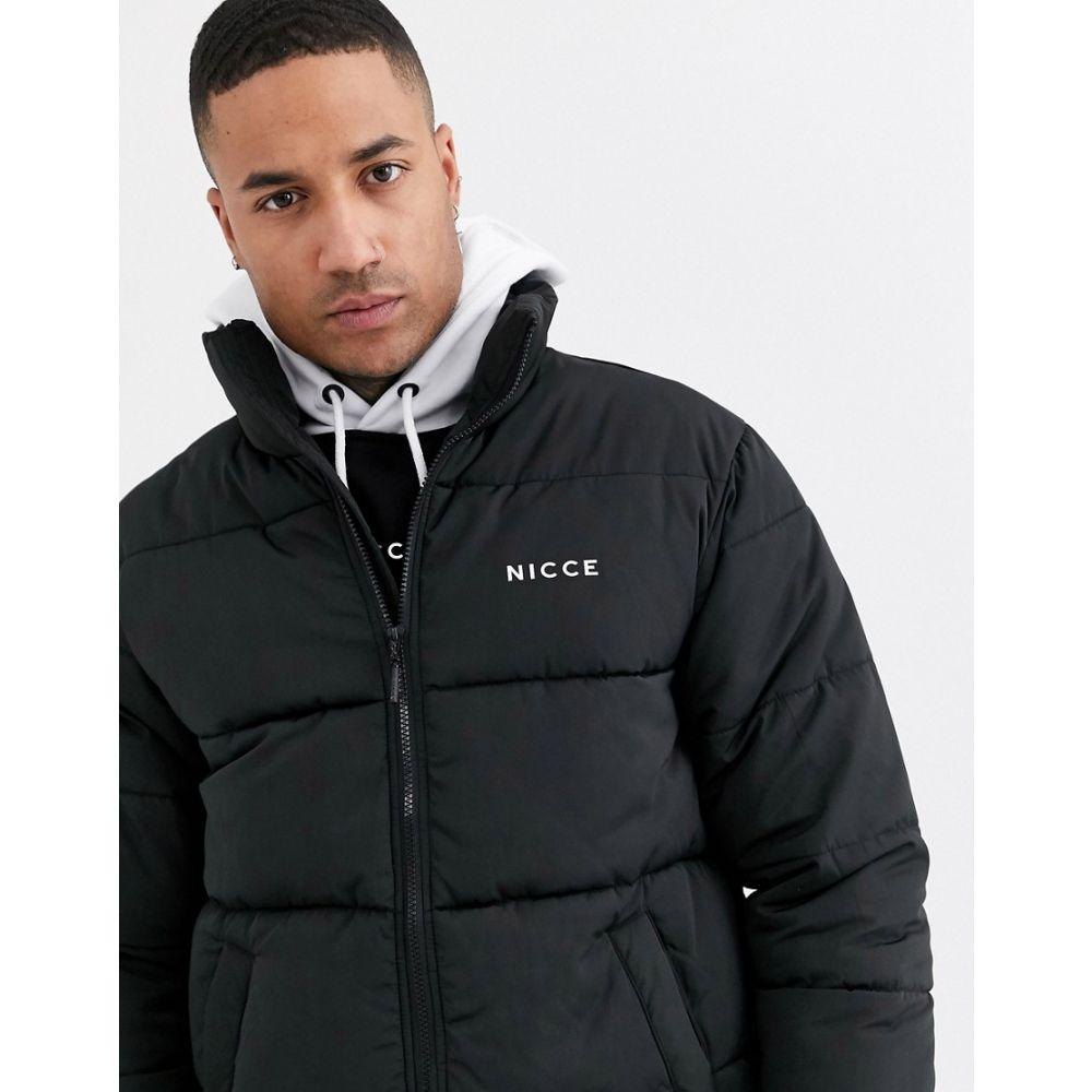 ニッチェ ロンドン Nicce メンズ ダウン・中綿ジャケット アウター【puffer jacket in black】Black