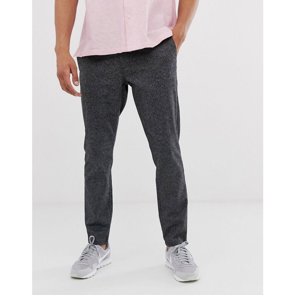 オンリーアンドサンズ Only & Sons メンズ スキニー・スリム ボトムス・パンツ【slim tapered fit trousers in grey】Medium grey melange