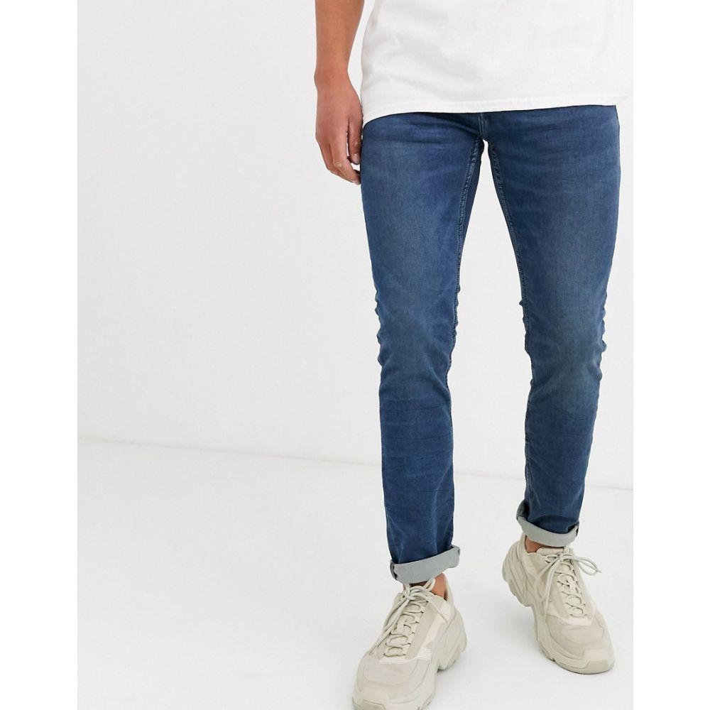 オンリーアンドサンズ Only & Sons メンズ ジーンズ・デニム ボトムス・パンツ【slim fit mid wash blue jeans】Blue denim