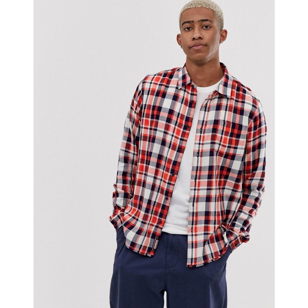 スコッチ&ソーダ Scotch & Soda メンズ シャツ フランネルシャツ トップス【scotch and soda brushed flannel check shirt】Red
