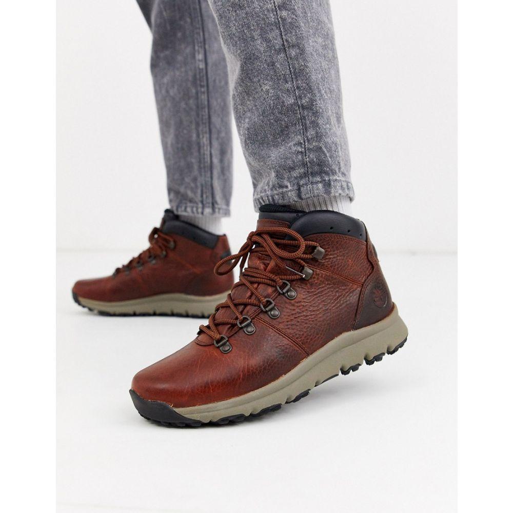 ティンバーランド Timberland メンズ ハイキング・登山 ブーツ シューズ・靴【world hiker boots in brown leather】Brown