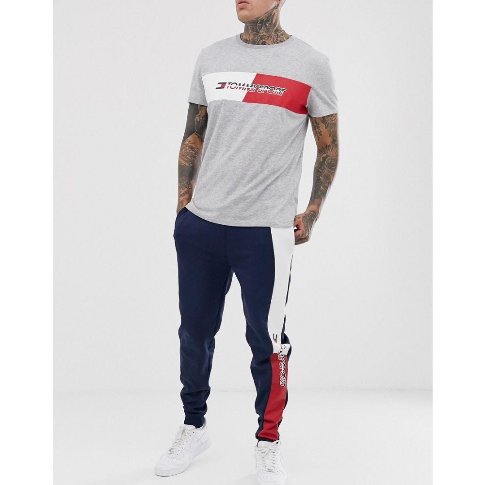トミーヒルフィガー Tommy Sport メンズ ジョガーパンツ ボトムス・パンツ【side stripe logo sweatpants in navy】Sport navy