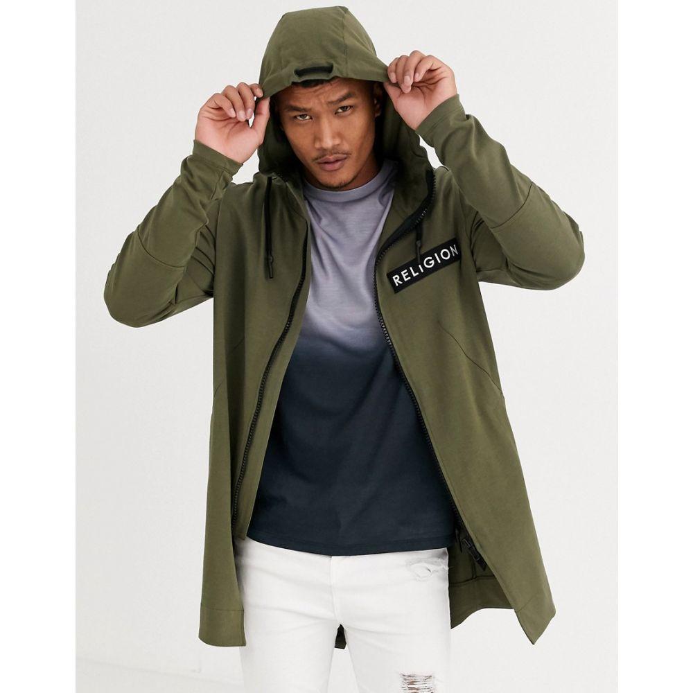 レリジョン Religion メンズ コート アウター【jersey parka jacket in khaki】Khaki