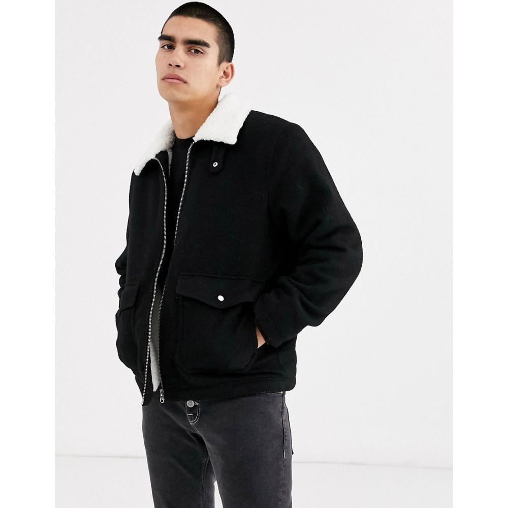 ウィークデイ Weekday メンズ ジャケット アウター【borg justus jacket in black】Black