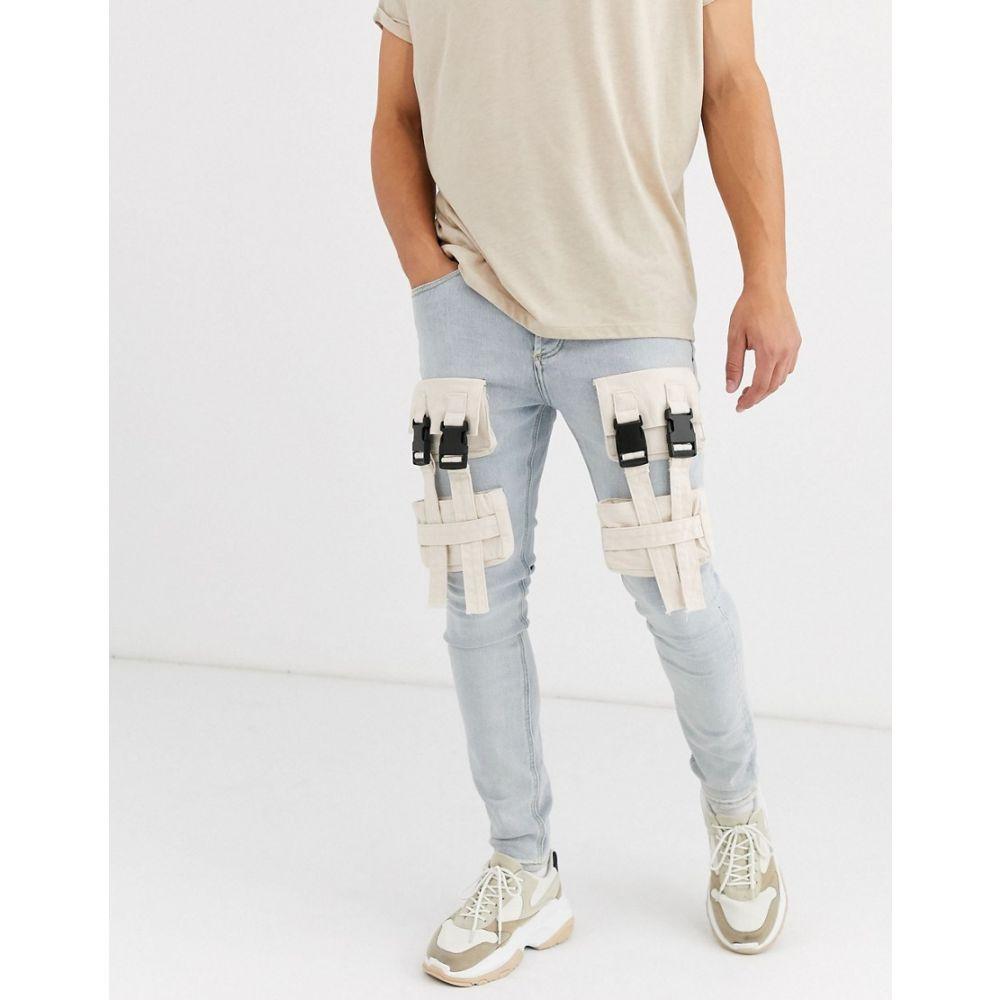 シックススジューン Sixth June メンズ ジーンズ・デニム ボトムス・パンツ【utility front pocket skinny jean in light wash】Blue