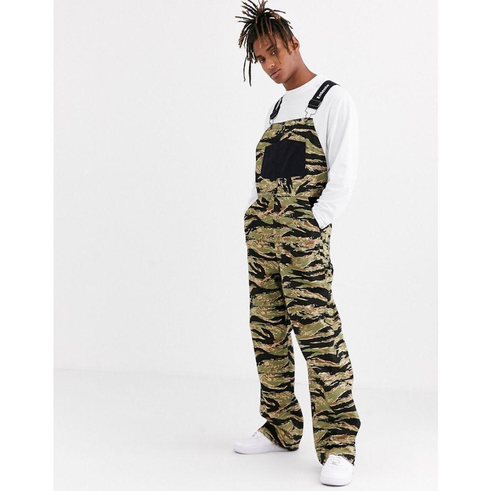 アンタント メンズ ボトムス・パンツ オーバーオール Green 【サイズ交換無料】 アンタント Entente メンズ オーバーオール ボトムス・パンツ【overalls in camo print】Green