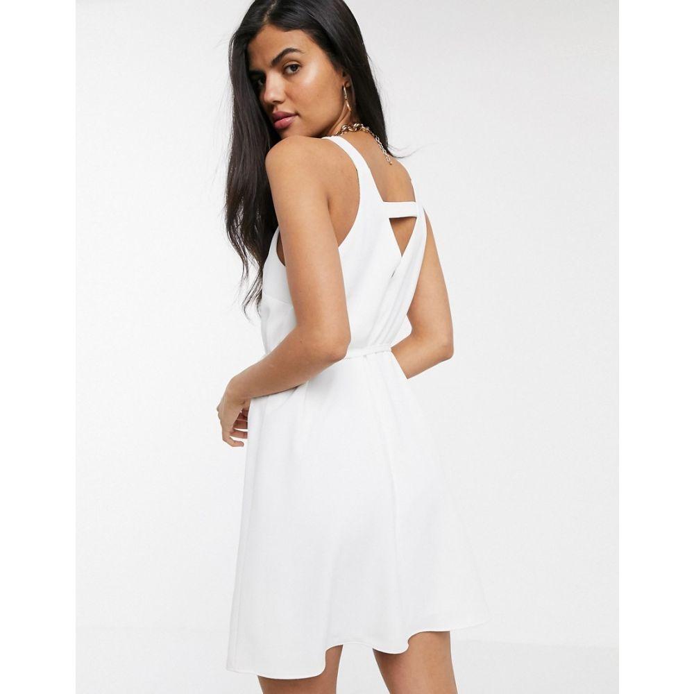 リバーアイランド River Island レディース ワンピース ワンピース・ドレス【swing dress in white】Black