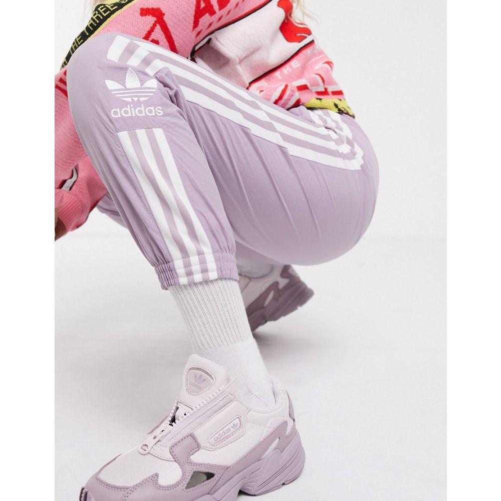アディダス adidas Originals レディース スウェット・ジャージ ボトムス・パンツ【locked up track pants in lilac】Purple