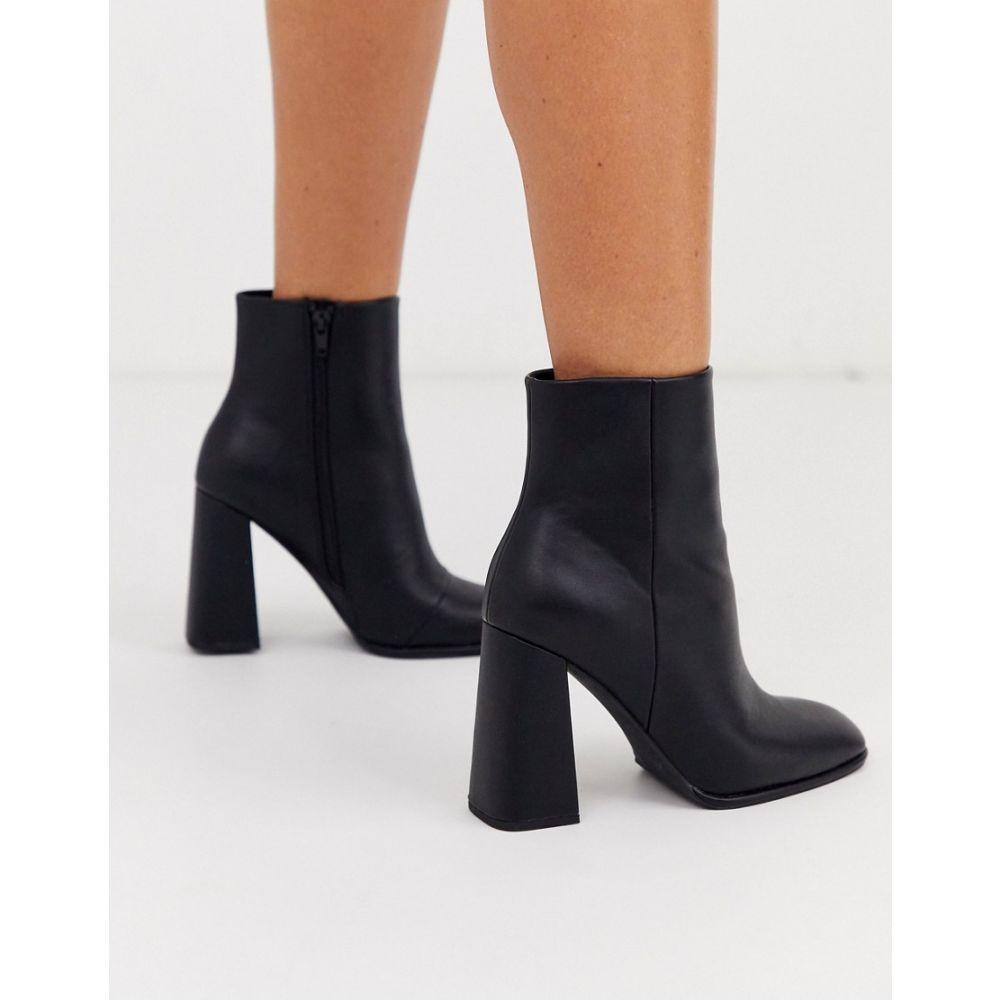エイソス ASOS DESIGN レディース ブーツ ショートブーツ シューズ・靴【ending heeled ankle boots in black】Black