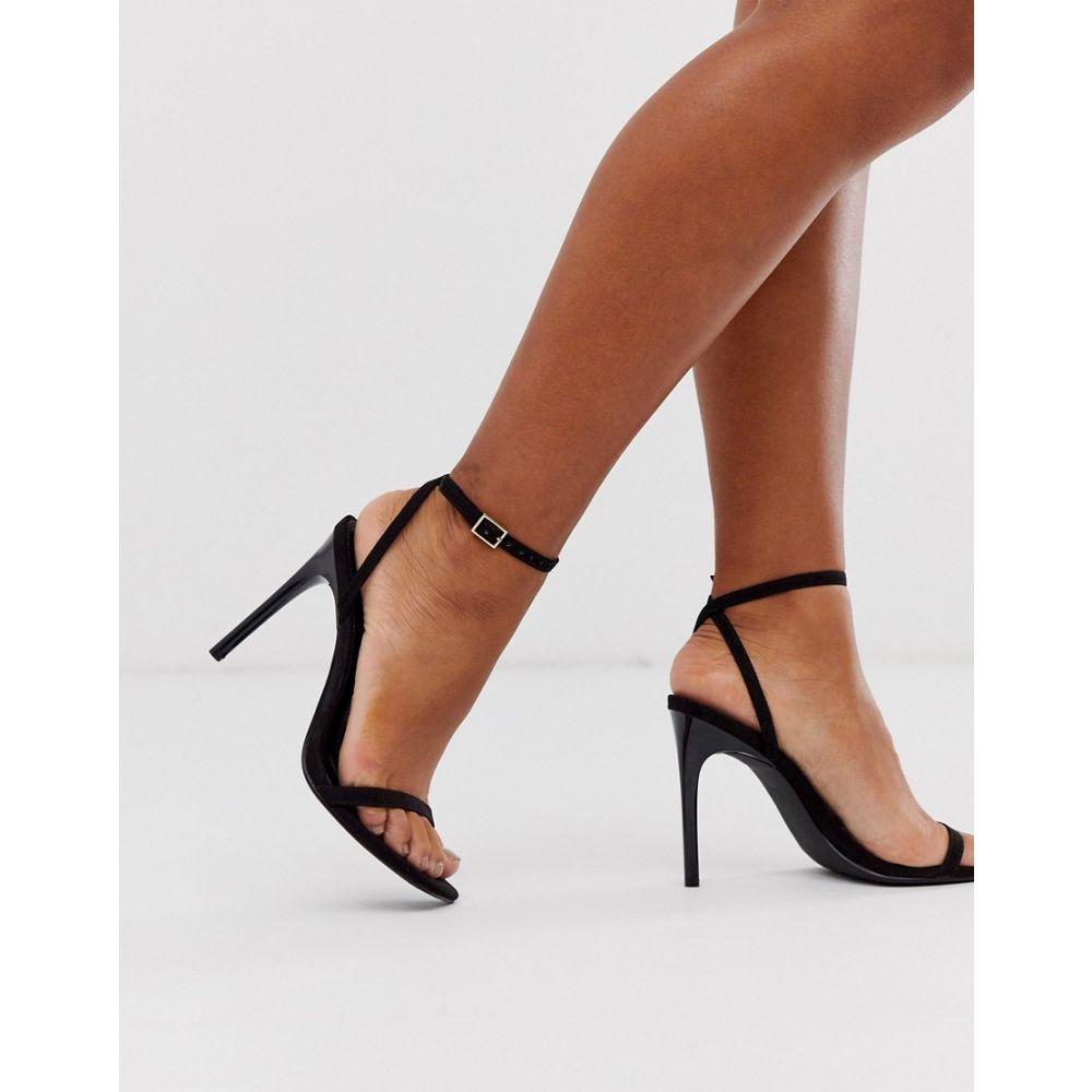 エイソス ASOS DESIGN レディース サンダル・ミュール シューズ・靴【nova barely there heeled sandals in black】Black