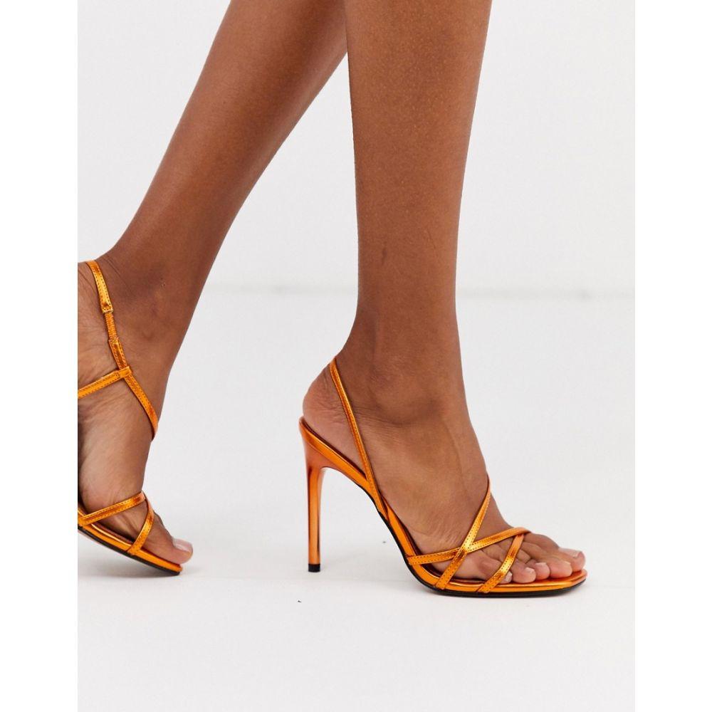 エイソス ASOS DESIGN レディース サンダル・ミュール シューズ・靴【notorious strappy heeled sandals in copper metallic】Copper metallic